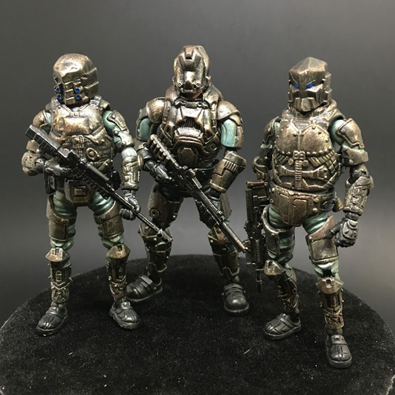 3-piece set JOY TOY 1:27 three generations of soldiers model Steel Riding clan team military action figure New Boxed obd intelligent aluminum alloy car window closer for cruze buick excelle golden 12v