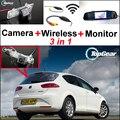 3in1 Pantalla Especial WiFi Cámara + Receptor Inalámbrico + Espejo Monitor de Visión Trasera Sistema de Aparcamiento de Copia de seguridad Para SEAT Leon MK2