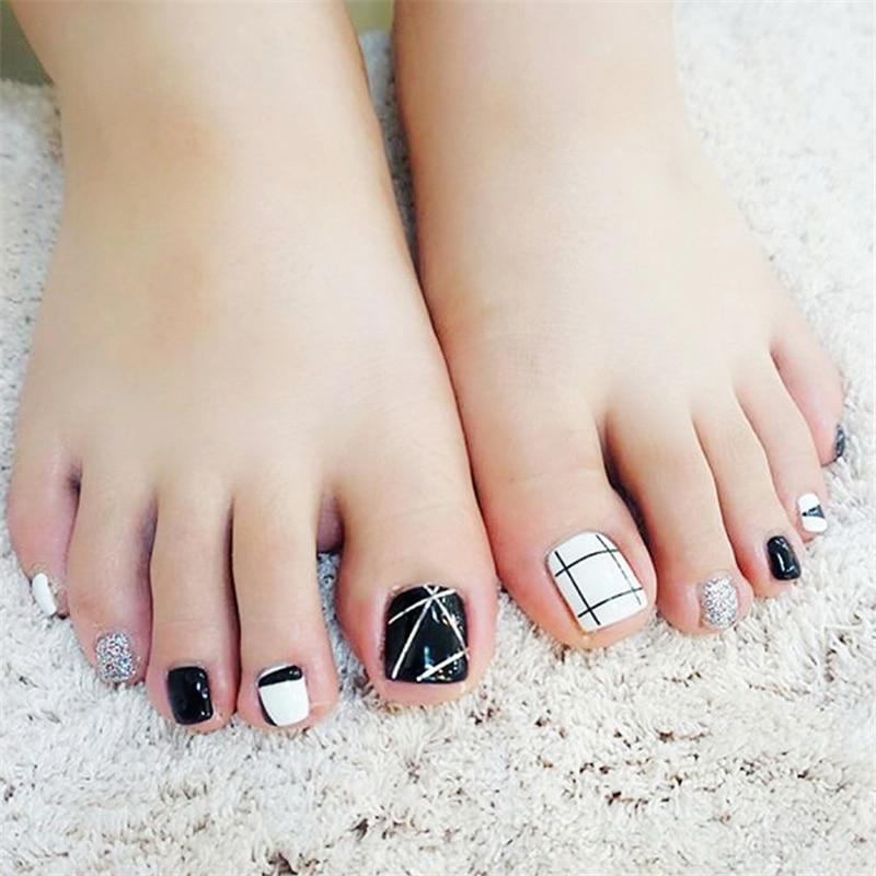 Health Beauty Nail Toe Art: New Fashion Cross Line Toe Nail Sticker Decal Water