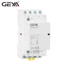 Free Shipping GEYA 4P 25A 4NO or 2NO2NC Modular AC Contactor DIN Rail Type AC220V Automatic стоимость
