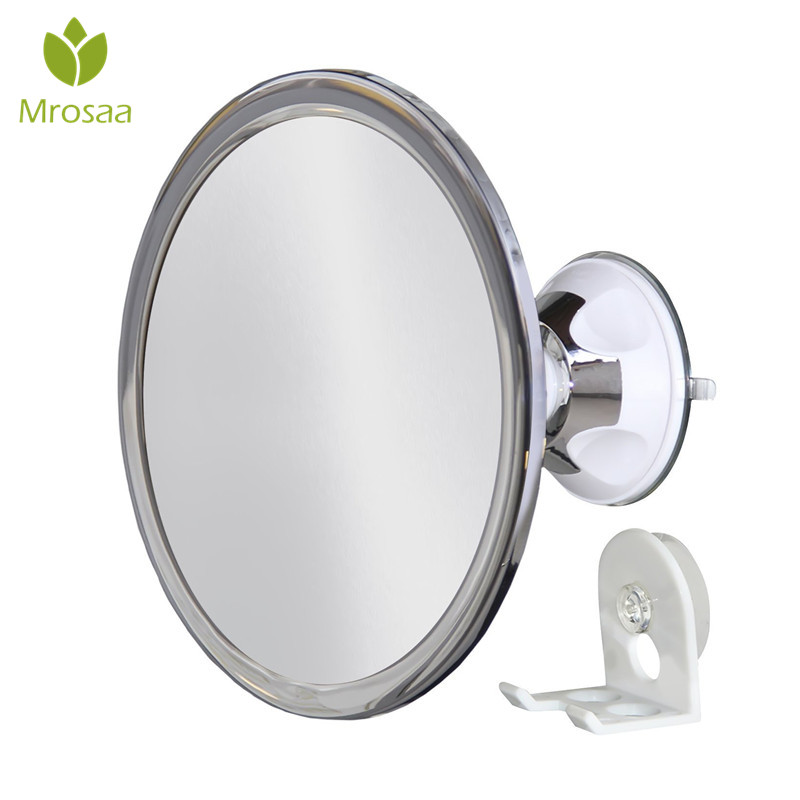 Mrosaa Fogless Bathroom Mirror Vanity Suction Cup Shower Mirrors Bath Mirror  360 Rotation Anti Fog Mirror For Makeup With Shaver In Bath Mirrors From  Home ...