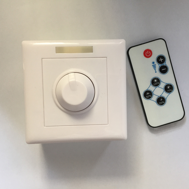 Ac85-265v 200w Led Dimmer Ir Knob Remote Control Switch For Dimmable Led Bulb Or Led Strip Led Downlight Panel Light Long Performance Life