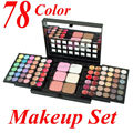 78 Color Eyeshadow Palette Set Make up Pallete 48 Eyeshadow + 24 Lip Gloss +6 Foundation face powder/Blush Makeup Kit Cosmetics