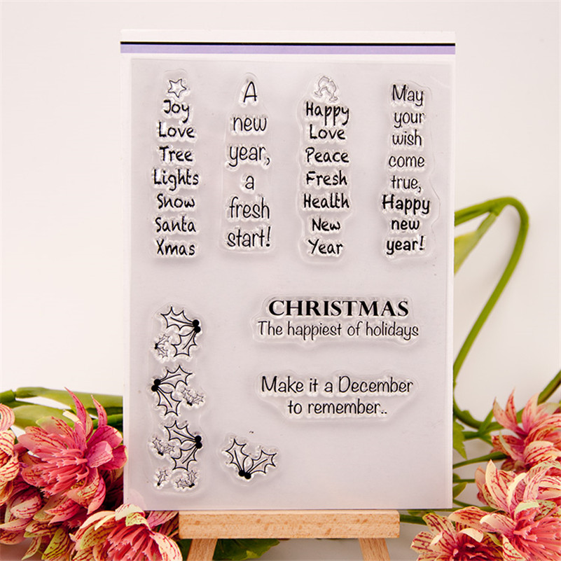 greeting speech design Clear Silicone Stamps for DIY Scrapbooking paper card craft for Christmas Fun Decoration Supplies RZ-231