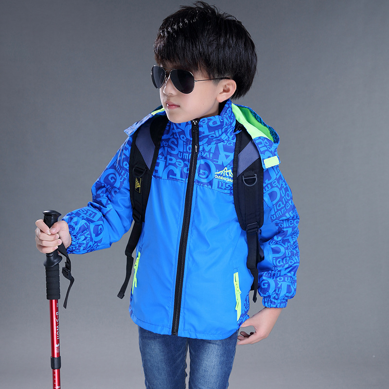 120-160cm Kids Students Outdoor 2in1 Warm Coat Camo Skiing Climbing Camping Hiking Windbreaker Children Clothes Trekking Jacket Hiking Jackets