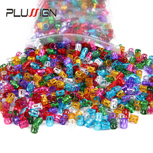 Promotion Price 1000Pcs/Lot Crochet Braid Beads Dreads Accessories Charm Hair Tube Open Side Can Adjustable Dread Cuffs Rings