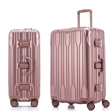 High Quality ABS+PC+Aluminum frame Rolling Luggage Spinner Suitcase Wheels Silver Travel Bag Cabin Trolley Men Luggage(China)