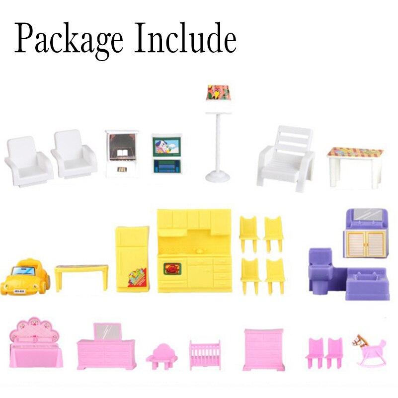 Yeni DIY Aile Bebek Evi Bebek Aksesuarları Oyuncak Ile Minyatür - Bebekler ve Aksesuarlar - Fotoğraf 4