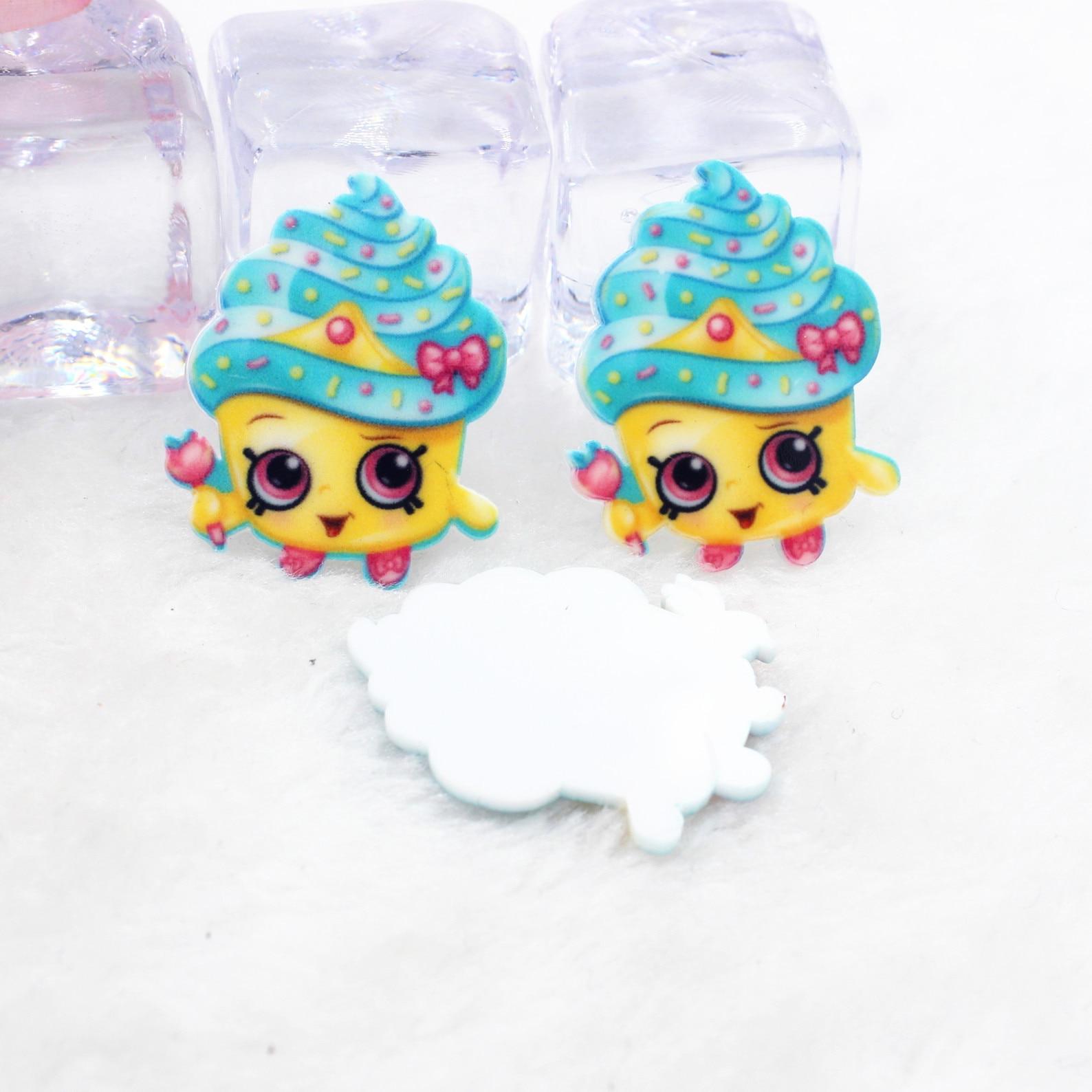 Kawaii cartoon flat back planar resin icecream Figurine food Home decoration craft DIY phone shell hair accessories