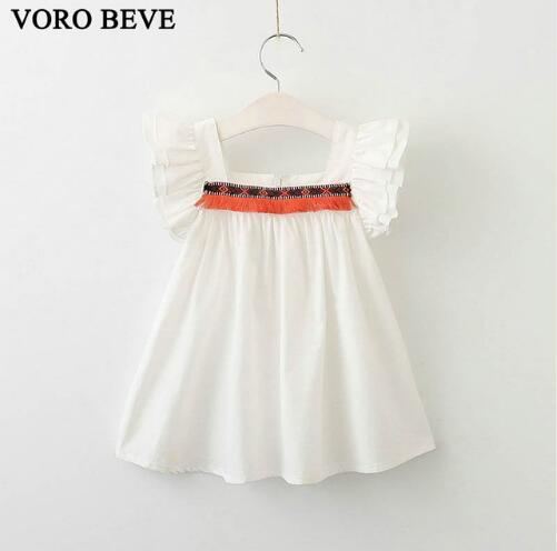 на воронцовском беве розничная 1 шт новая мода оборками ребенка девушка принцесса летом торт шифоновое платье бесплатная доставка