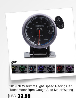 Cnspeed 60mm carro turbo boost gauge vermelho