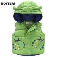 High Quality Winter Children Vest Baby Boys Girls Hooded Waistcoat Kids Warm Beetles Vest Child Thicken