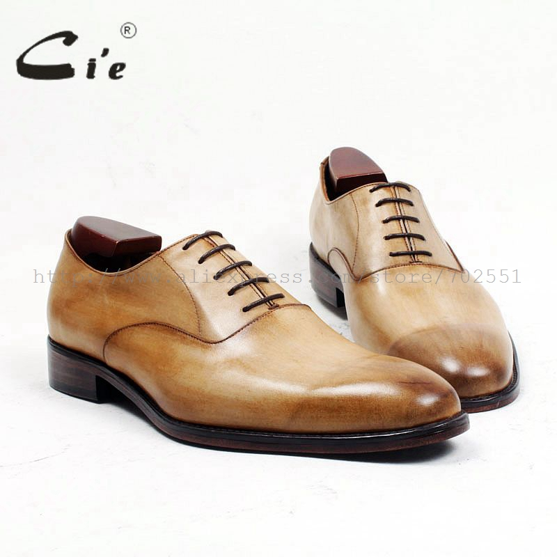cie Free Shipping Bespoke Custom Handmade Goodyear welted handmade genuine calf leather men's dress oxford black shoe No.OX483 полироль пластика goodyear атлантическая свежесть матовый аэрозоль 400 мл