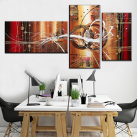 100% Hand painted Modern Wall Art Abstract Handmade Oil Painting On Canvas Wall Art Picture 3 pieces Sitting Room Decor
