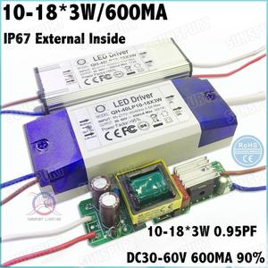 3-10 шт. Высокий PF 20-40 Вт AC85-277V светодиодный драйвер 10-18x3W 600mA DC30-60V постоянный ток внутри внешний водонепроницаемый Бесплатная доставка