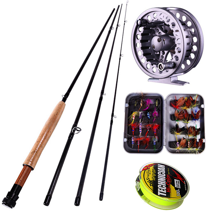 Sougayialng fly fishing rod set and reel combo with for Fishing rod set