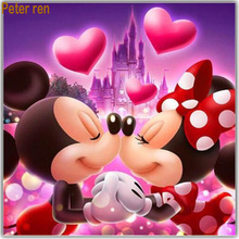 Peter ren Diamond painting cross stitch embroidery Cartoon anime Square & Round diamond mosaic Full image Loving partner