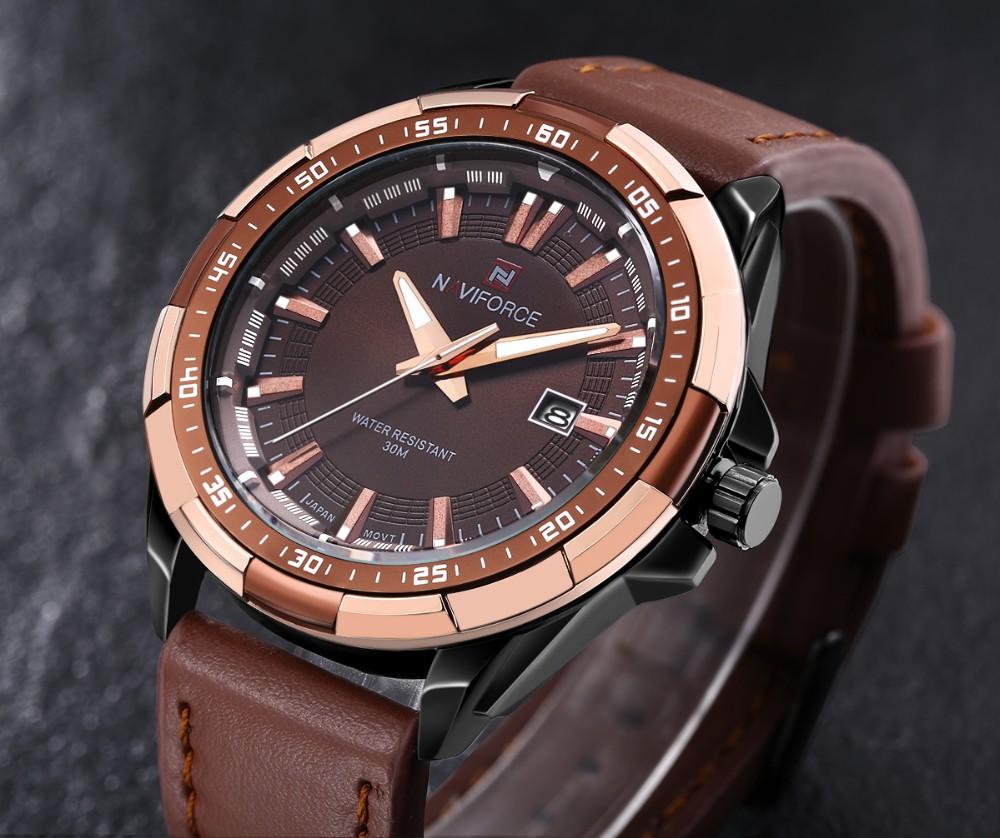 Mens Watches Top Brand Luxury NAVIFORCE Sport Men's Quartz Watch Waterproof Wristwatch Leather Male Clock Relogio Masculino 3