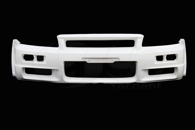 1999-2000 Nissan Skyline R34 GTT 2D 4D GTR-Style Front Bumper FRP (5)