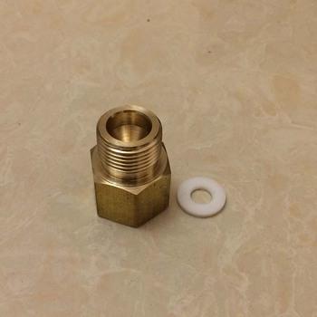 Złącze regulatora CO2 Homebrew 1 2 #8222 G lub 5 8 #8221 G męski na DIN 477 W 21 8 #215 1 14 dla piwa regulatora CO2 tanie i dobre opinie chilibeerit Metal Zaopatrzony connector Akcesoria barowe