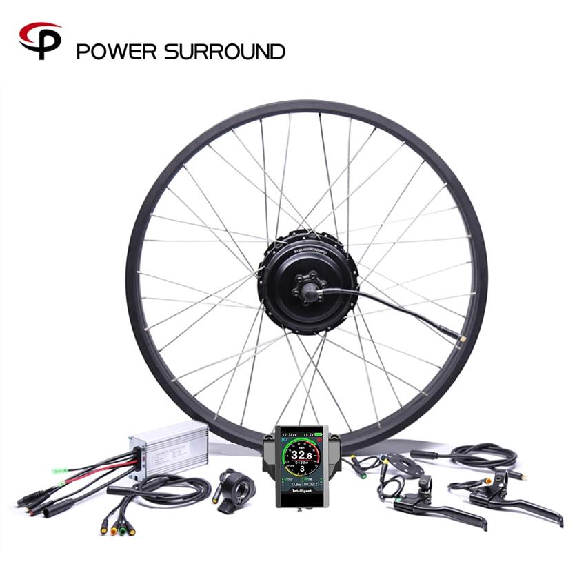 2019 étanche couleur affichage 48v750w Bafang gros arrière vélo électrique Kit de Conversion roue de moteur sans brosse avec 20 ''26''rim