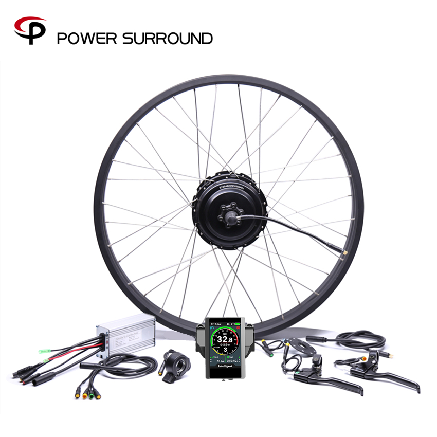 2019 Waterproof Color Display 48v750w Bafang Fat Rear Electric Bike Conversion Kit Brushless Motor Wheel With 20'' 26''rim