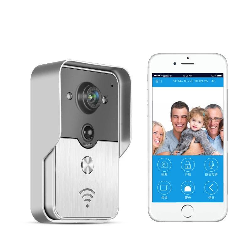 NEW Wifi Video Door Phone Bell Wireless Intercom Support POE Power supply Wifi 3G IOS Android for iPad Smart Phone Tablet brand new wifi wireless video door phone door bell intercom systems app can be run in android and ios devices free shipping