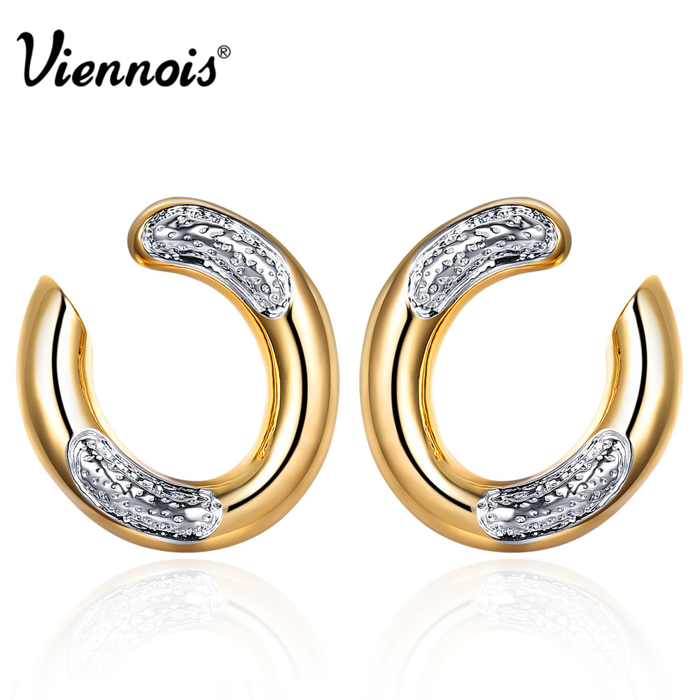 from champagne cubic gold in top zirconia clear color engagement fashion aaa small woman item earrings jewelry round clip gifts luxury