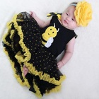 Bees Baby Girls Dresses TUTU Dress Cute Baby Girl clothes Baptism dress gowns newborn baby girl summer clothing