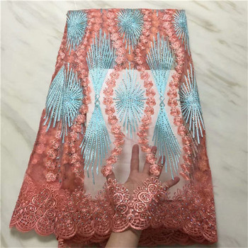 green red very soft unique African Stone tulle lace sewing mesh French fabric high quality You will like So Amazing hot Sale