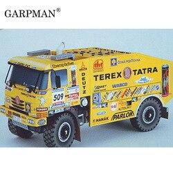 20cm dakar 2006 tatra 815 caminhão edição fina modelo de papel 3d