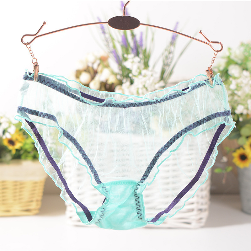 Hot Sale Women Lace Transparent Mesh Sexy Panties Ultra-thin 1PC Thongs Bragas Women Girls Brief Underwear
