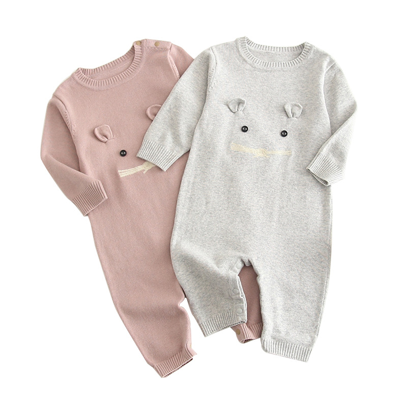 Baby Unisex   Rompers   Autumn Cotton Knitted Jumpsuit for Newborn Boy Girl Clothes One Piece Children' Overalls Toddler Kids Outfit