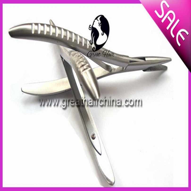 Stainless Steel Plier for Hair Extension Glue Bond Micro Ring Removal Pliers Hair Extension Tools ...