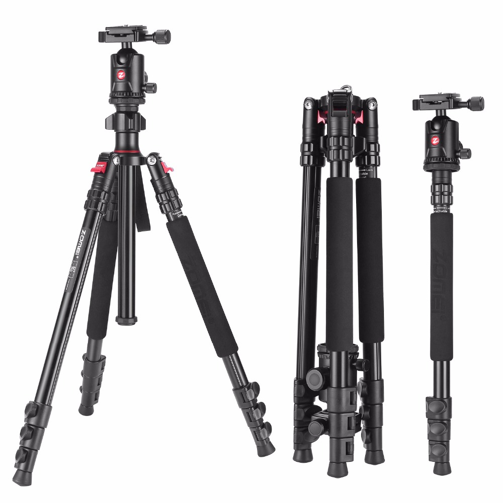 ZOMEI M7 Professional Portable Travel Tripod Magnesium Aluminum Alloy Monopod For SLR Outdoor Camera Tripod Accessories Stand benro a35fbr1 original tripod for slr camera reflexum professional tripod aluminum tripod functional monopod climbing stick