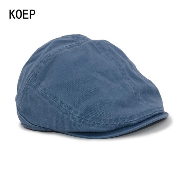 KOEP bérets britannique rétro pour hommes | Entièrement plus proche, viseurs décontracté és, casquette carpette Gorras Planas, une casquette plate en coton, béret chapeaux pour hommes