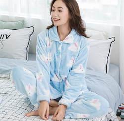 2018 для беременных Костюмы модные пижамы 2 предмета/партия теплые фланелевые Материнство Грудное вскармливание Ночные сорочки для Для