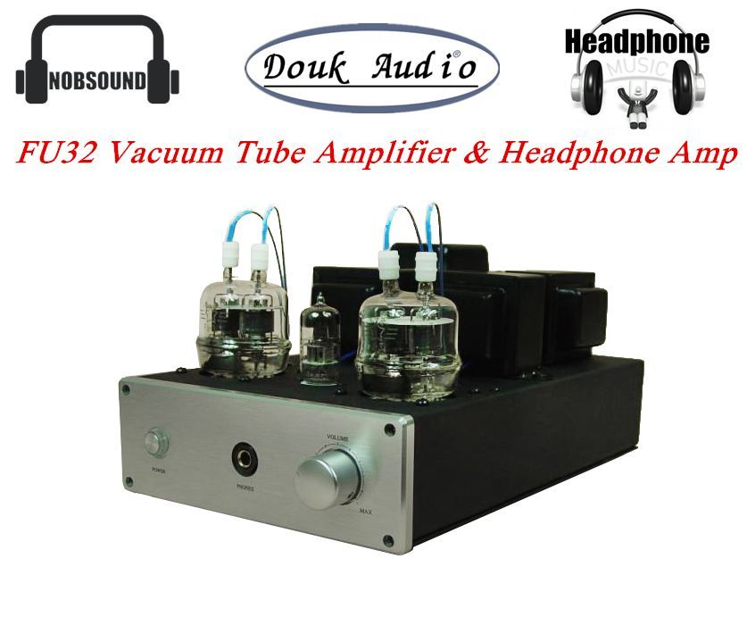 Music hall Latest 6N2+FU32 Class A Single-ended Vacuum Tube Amplifier & HiFi Headphone Amp 4W*2