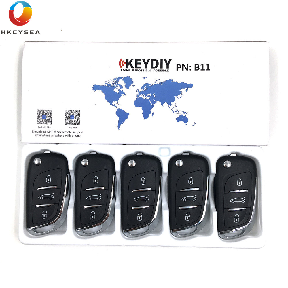 HKCYSEA 5PCS LOT KD Remote B11 3 Button Remote Key B Series for URG200 KD X2