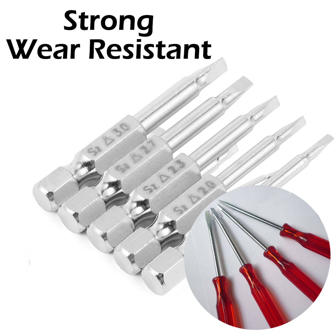 6 in 1 T Type Wrench Handle Screwdriver Bits Wrench Set Anti-Slip Precision Hex Triangle Ratchet Screwdriver 5Pcs Screw Bits Hand Tool