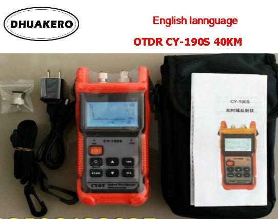 free shipping AB189 FTTH fiber optical MINI OTDR CY190S 40KM JDSU mts fault detection positioning instrument