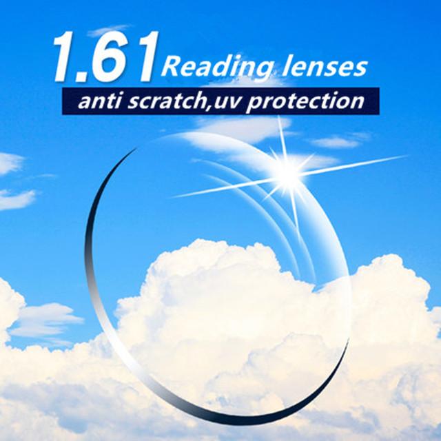 1.61 rasguño anti presbicia lentes de prescripción de calidad super delgado gafas de lectura lentes de resina asférico CR39 lente de espectáculo mucho
