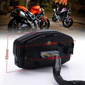 Image 3 - Đa Năng Xe Máy LED LCD Đo Tốc Độ Kỹ Thuật Số Đồng Hồ Đo Đèn Nền Cho Năm 1,2,4 Bình Cho Xe BMW Honda Ducati Kawasaki Yamaha