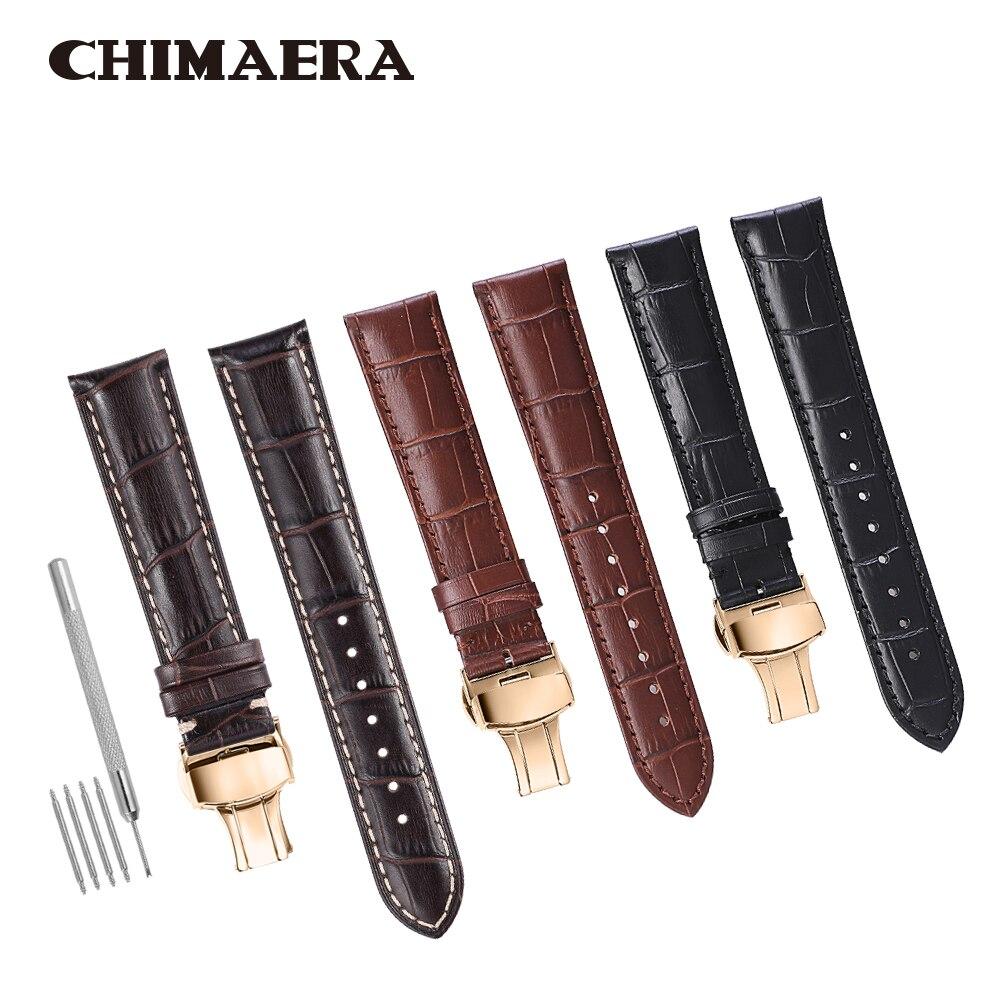 CHIMAERA 14mm 16mm 18mm 19mm 20mm 21mm 22mm 24mm Genuine Calf Leather Watchband belt for Hours Diesel watch Seiko
