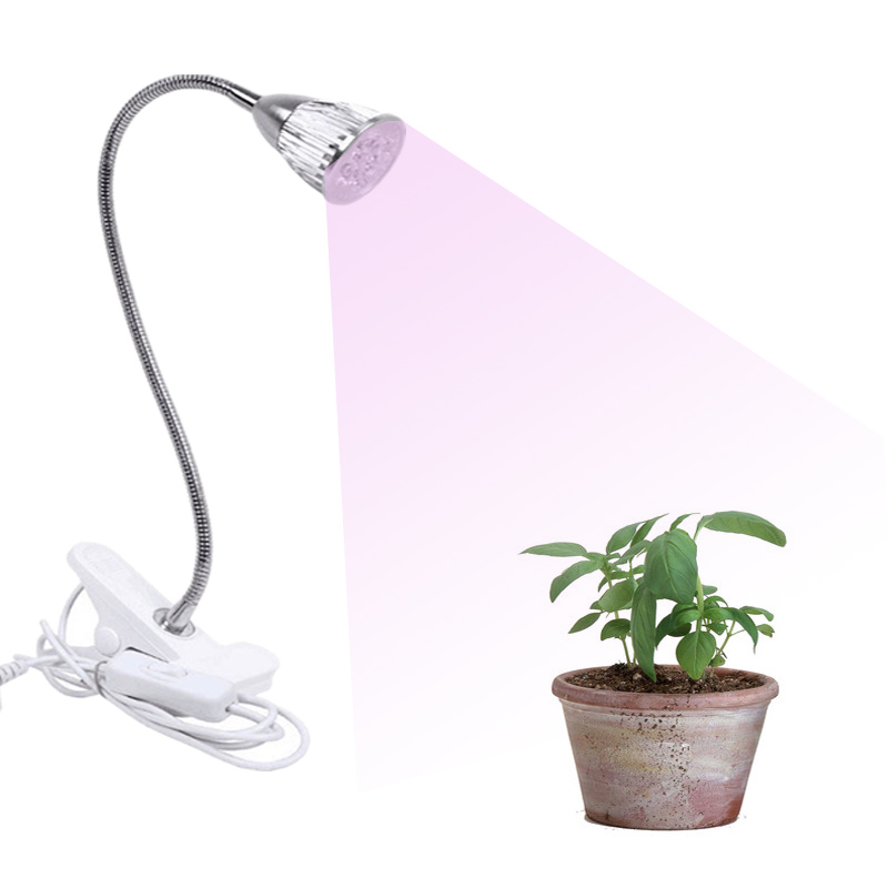 LED Grow Light with hose and clip for Succulent Flower Plant No flicker plant Lamp hydroponics Supplemental lighting High