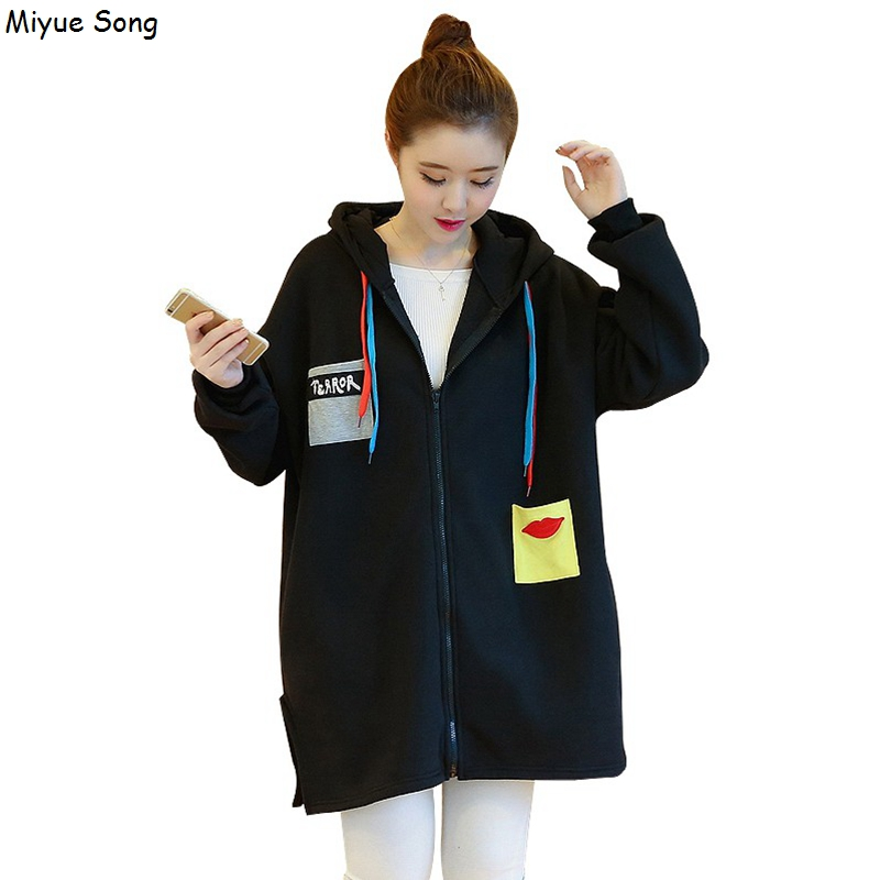 Women's Maternity Winter Coat Casual Jackets for Pregnant Women Plus velvet Outerwear Pregnancy Clothes Spring Autumn Black