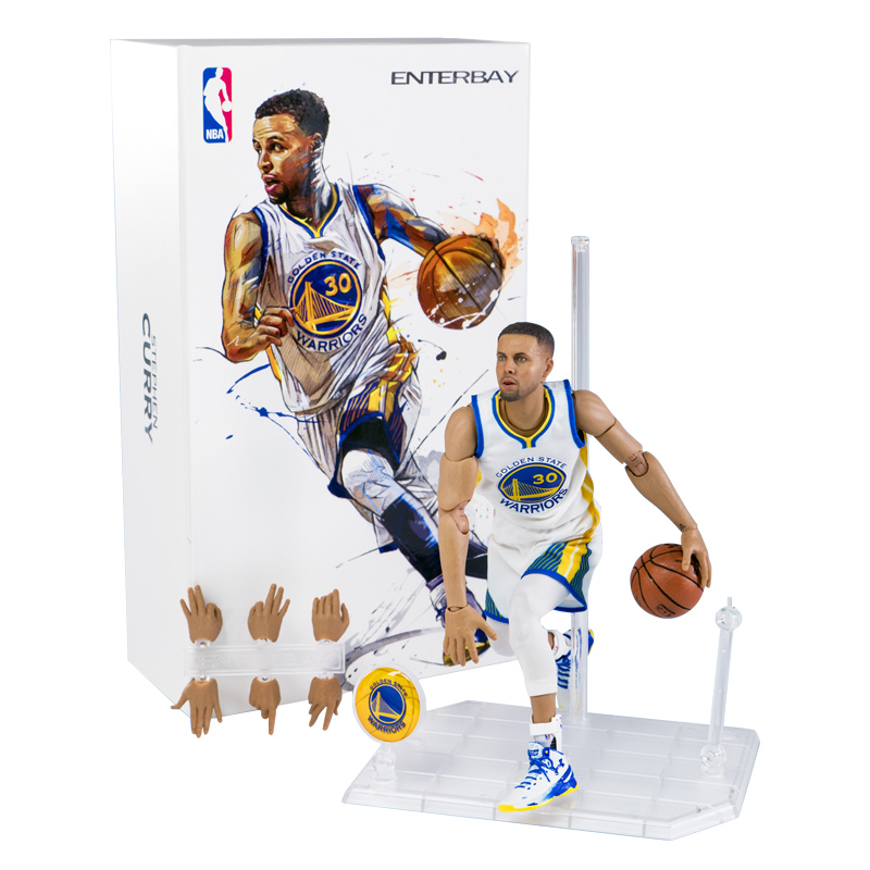 NBA Basketball Star Stephen Curry Action figure 22cm High Model Toys for Sport Basketball Lover Collection for boy children gift building blocks single sale stephen curry american professional basketball player labron james bricks children gift toys kf406