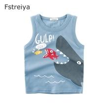 Baby boys Sleeveless T shirt kid crocodile clothes girls summer tiny cottons Fstreiya 2019 children animal print tops