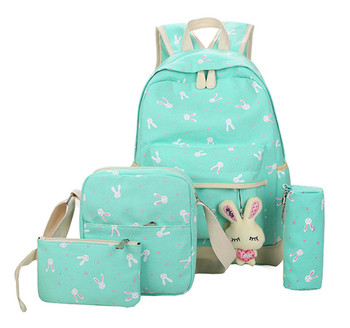Children School Bags Teenagers Girls Printing Rucksack school Backpacks 3pcs/Set Mochila kids travel backpack Cute shoulder bag 2017 free shipping hot sale children fashion shark backpack cute backpacks boy s travel bags school bag for teenagers d13 87