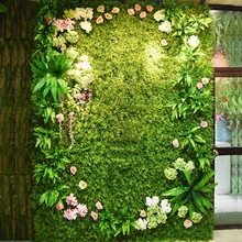 40*60cm more type Popular green plant wall Home Decor Green Plant Artificial Flower Plastic Garland artificial flowers